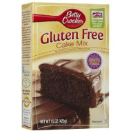 Betty Crocker, Gluten Free, Devils Food Cake Mix, 15oz Box (Pack of 4)