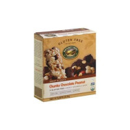 Natures Path Organic Gluten Free Selections Chunky Chocolate Peanut Chewy Granola Bar, 6.2 Ounce - 6 Per Case.