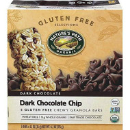 Natures Path Organic Gluten Free Selections Dark Chocolate Chip Chewy Granola Bar, 6.2 Ounce - 6 Per Case.