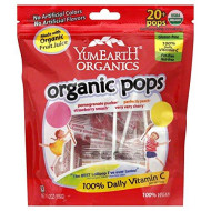Lollipops, 95% Organic, Fruit, 20, 4.2 Oz (Pack Of 12)
