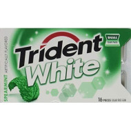 Trident White Spearmint Dual Pack 12 16-Piece Packs(192 Pieces)