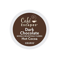 Cafe Escapes Hot Cocoa, Dark Chocolate, K-Cup Portion Pack For Keurig brevers, 24-Count (Pack Of 2)