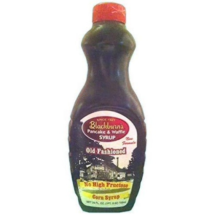 Blackburn-Made Syrup 24Oz Bottle (Pack Of 3) (Choose Flavor Below) (Old Fashioned Pancake & Waffle Syrup - No High Fructose Corn Syrup))
