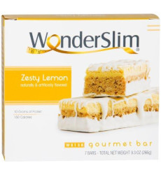 WonderSlim Gourmet High Protein Bar/Diet Bars with 10g Protein - Trans Fat Free, Cholesterol Free, Zesty Lemon (7 Count)