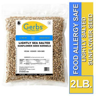 Lightly Sea Salted Sunflower Seed Kernels 2 Lbs By Gerbs Top 14 Food Allergy Free & Non Gmo - Vegan, Keto Safe & Kosher - Dry Roasted Hulled Seeds Grown In Usa
