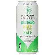 Steaz, Iced Green Tea Half And Half Green Tea & Lemonade, 16 Fl Oz, 12 Count