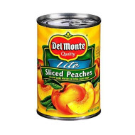 Del Monte Lite Sliced Yellow Cling Peaches in Extra Light Syrup 15oz (Pack of 6)