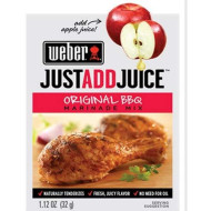 Weber Just Add Juice Marinade Mix, Original Bbq, 1.12 Ounce (Pack Of 12)