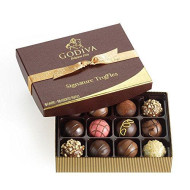 Godiva Chocolatier Signature Chocolate Truffles, Gift Box, Great For Gifting, Gourmet Chocolate, Gifts For Her, Gifts For Mom, 12 Piece