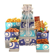 Mothers Day Gourmet Celebration Gift Tower With Gourmet Popcorn, Cookies & Assorted Sweets