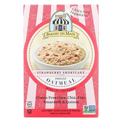 Instant Oatmeal Strawberry Shortcake 10.56 Ounces (Case of 6)