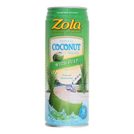 Zola Coconut Water Can With Pulp, 17.5 Fz