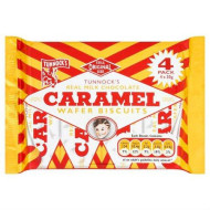 Tunnock's Real Milk Chocolate Caramel Wafer Biscuits 4 X 30G X Case Of 20