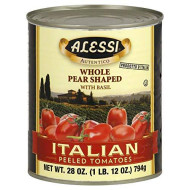 Whole Pear Shape Peeled Tomato With Basil 28 Ounces (Case Of 12)