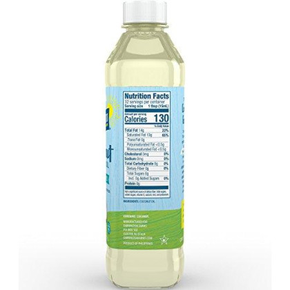 Carrington Farms Gluten Free, Hexane Free, Non-Gmo, Free Of Hydrogenated And Trans Fats In A Bpa Free Bottle, Liquid Coconut Cooking Oil, Unflavored, 16Oz (Ounces)