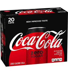 Coke Zero Sugar Diet Soda Soft Drink, 12 Fl Oz, 20 Pack