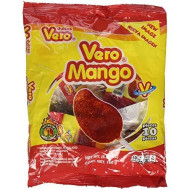 Vero Mango, Chili Covered Mango Flavored Lollipops,10 Pieces