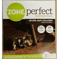 Zoneperfect Double Dark Chocolate Nutrition Bars 5 Bars Per Box Size 7.9 Ozs - 4 Pack