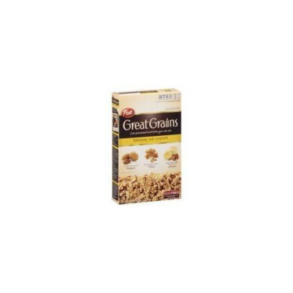 Post Great Grains Banana Nut Crunch Whole Grain Cereal 15.5 Oz (Pack Of 12)