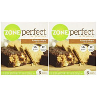 Zone Perfect Fudge Graham, 5 Bars- 8.8 Oz, 2 Pack