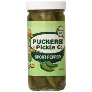 Puckered Pickle Peppers Sport, 8.0 Ounce