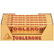 Toblerone Swiss Milk Chocolate With Honey & Almond Nougat, 3.52 Ounce Bars (Pack Of 20)