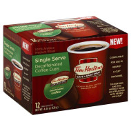 Tim Horton'S Single Serve Coffee Cups, Decaffeinated, 12 Count (Pack Of 6)