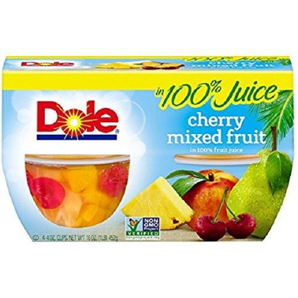 Dole Fruit Bowls, Cherry Mixed Fruit in 100% Juice, 4 Cups (Pack of 6)