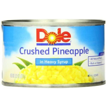 Dole Crushed Pineapple in Heavy Syrup, 8.25 Ounce Cans (Pack of 12)