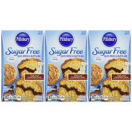 Pillsbury Sugar Free Deluxe Cinnamon Swirl Quick Bread & Muffin Mix, 16.4 Oz. (Pack Of 3)