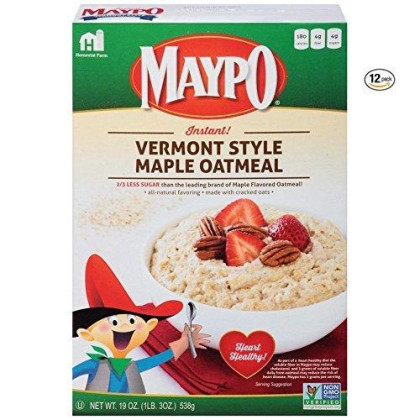 Maypo Instant Maple Oatmeal Cereal Vermont Style 19 Oz (Pack Of 12)