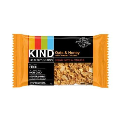 Kind Bar Healthy Grains Bar: Oats And Honey With Toasted Coconut; Box Of 12