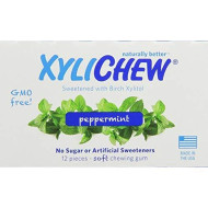 Xylichew Peppermint Counter Display Chewing Gum, 12 Count