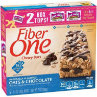General Mills Fiber One Granola Bar, Oat And Chocolate, 7 Oz