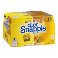 Snapple Diet Half 'N Half Tea, 16 Ounce (12 Bottles)