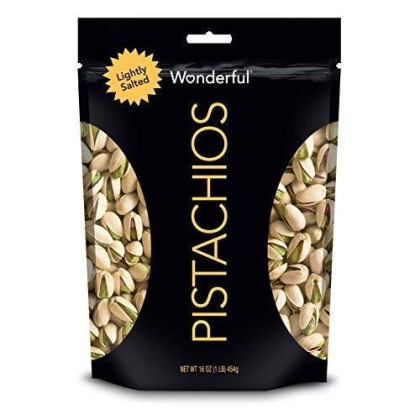 Wonderful Pistachios, Lightly Salted, 16 Resealable Pouch