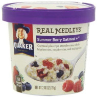 Quaker Real Medleys Summer Berry Oatmeal 2.46 Oz. (Pack Of 5)