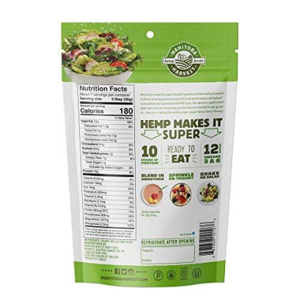 Manitoba Harvest Organic Hemp Hearts Raw Shelled Hemp Seeds, 7 Ounce (Pack Of 1); With 10G Protein & 12G Omegas Per Serving, Non-Gmo, Gluten Free