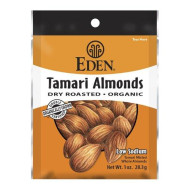 Eden Tamari Almonds, Dry Roasted, Organic Pocket Snacks, 1 Ounce (Pack Of 12)