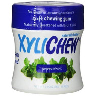 Xylichew - Naturally Better Sugar-Free Chewing Gum, Peppermint - 4 Pack Of 60 Pieces (240 Pieces Total)