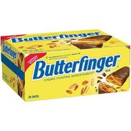 Nestle Butterfinger Milk Chocolate Candy Bars, Full Size Bulk Christmas Candy (Pack of 36), Perfect Stocking Stuffers