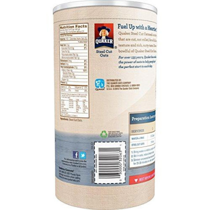 Quaker Steel Cut Oats 30 Oz