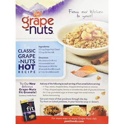 Post, Breakfast Cereal, Grapes Nut, 20.5 Oz