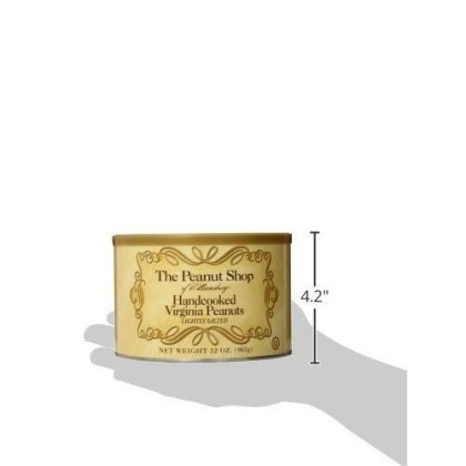 The Peanut Shop Of Williamsburg Handcooked Virginia Peanuts, Lightly Salted, 32 Ounce