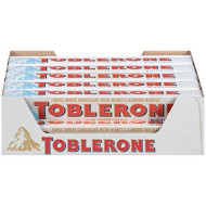 Toblerone Swiss White Chocolate With Honey And Almond Nougat, 3.52 Ounce Bars (Pack Of 20)