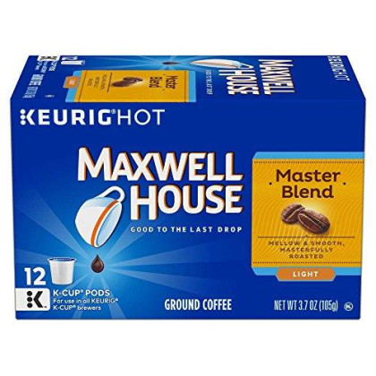 Maxwell House Master Blend Coffee, Light Roast, K-Cup Pods, 12 Count