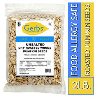 Unsalted Whole Pumpkin Seeds, 2 Lbs By Gerbs Top 14 Food Allergy Free & Non Gmo - Vegan, Keto Safe & Kosher - Pepitas Grown In Usa