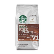 Starbucks Decaf Pike Place Roast Medium Roast Ground Coffee, 12-Ounce Bag