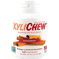 Xylichew - Naturally Better Sugar-Free Chewing Gum, Cinnamon - 4 Pack Of 60 Pieces (240 Pieces Total)