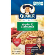 Quaker Instant Oatmeal Apple Cinnamon 10 Pk [Pack Of 3]